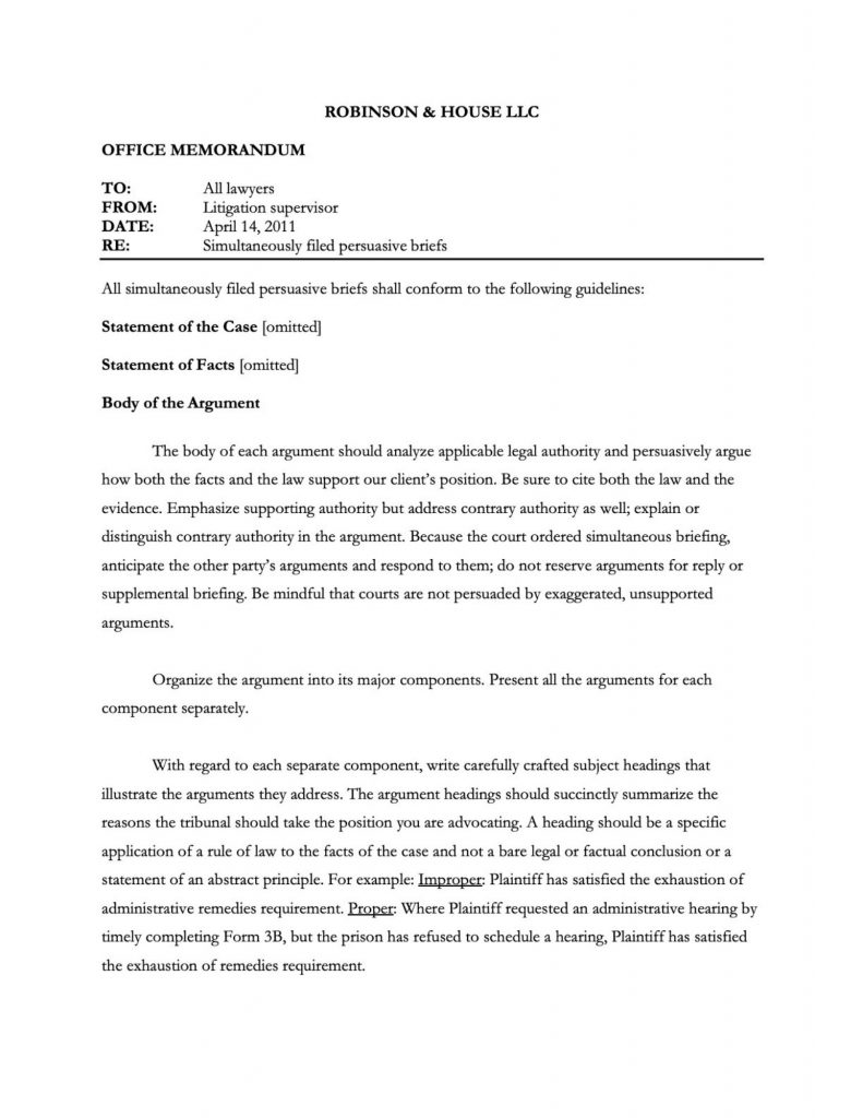 Structure Of A Legal Memorandum   Law Tutors