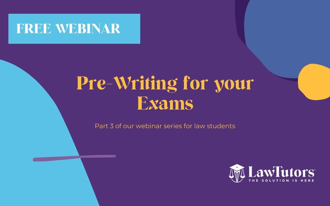 Pre-Writing for your Exams webinar graphic title